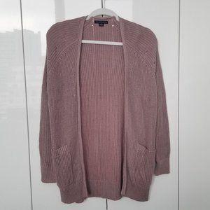 American Eagle - Mauve Knit Cardigan
